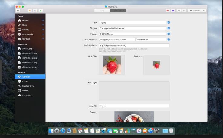 RapidWeaver mac