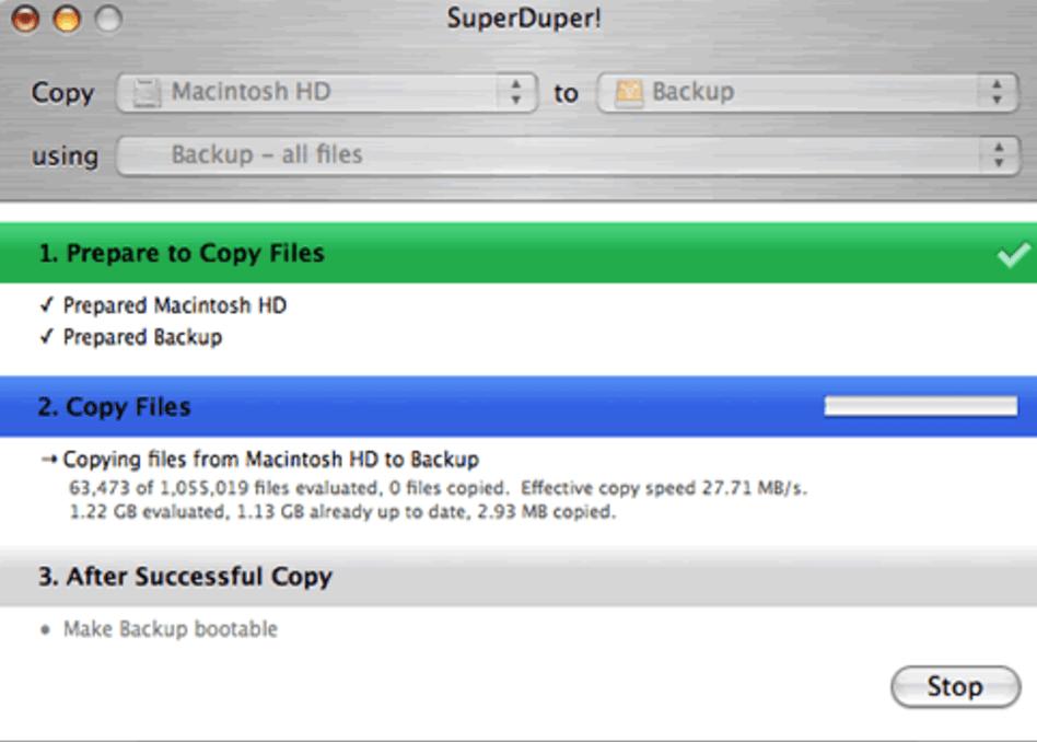 SuperDuper mac