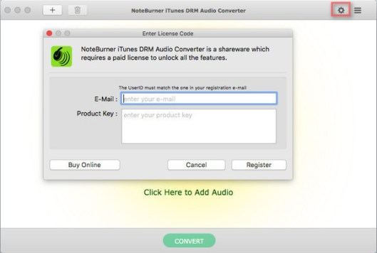 NoteBurner iTunes Audio Converter windows
