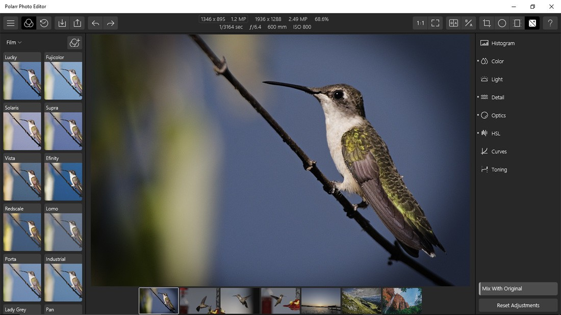 Polarr Photo Editor windows