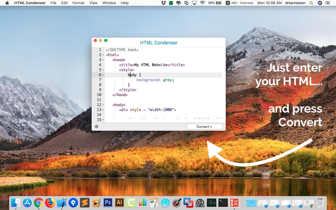 HTML Condenser windows