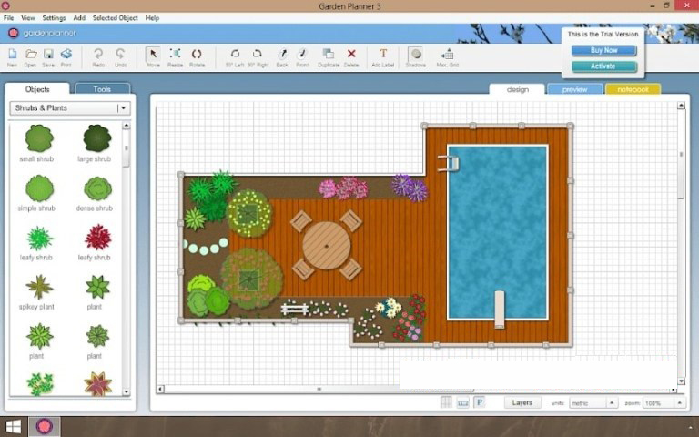 Artifact Interactive Garden Planner windows