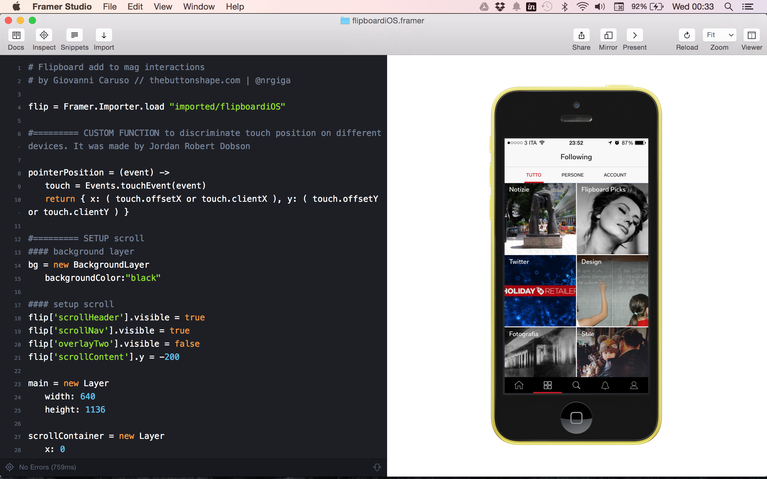Framer Studio Mac