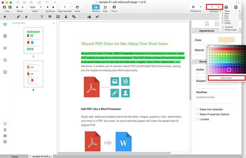 iSkysoft PDF Editor Pro mac