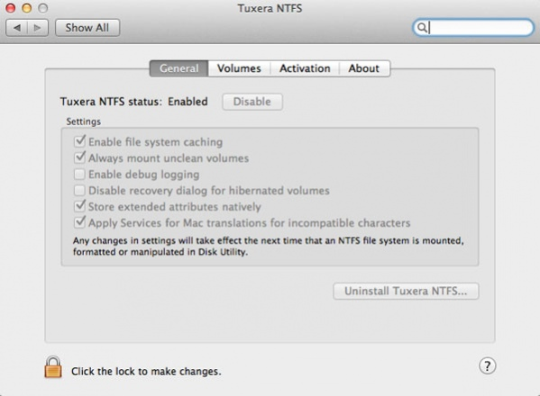 Tuxera NTFS mac